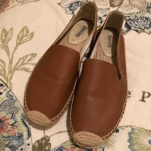 Soludos leather loafer espadrille